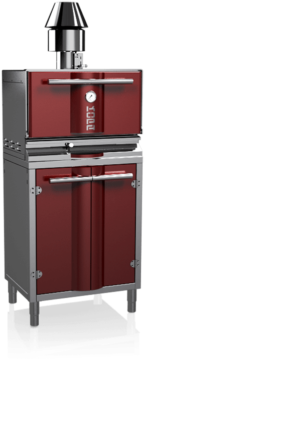 charcoal oven 300S red