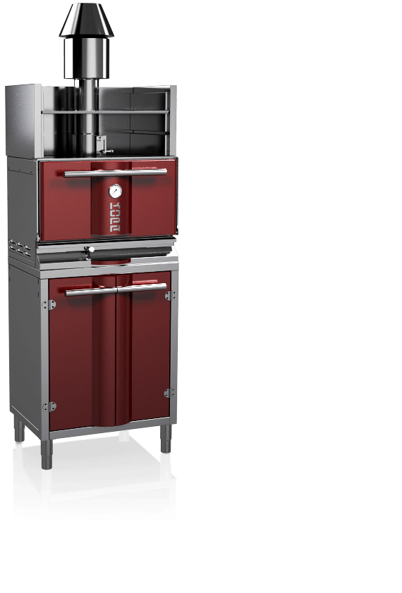 charcoal oven 300SOC red