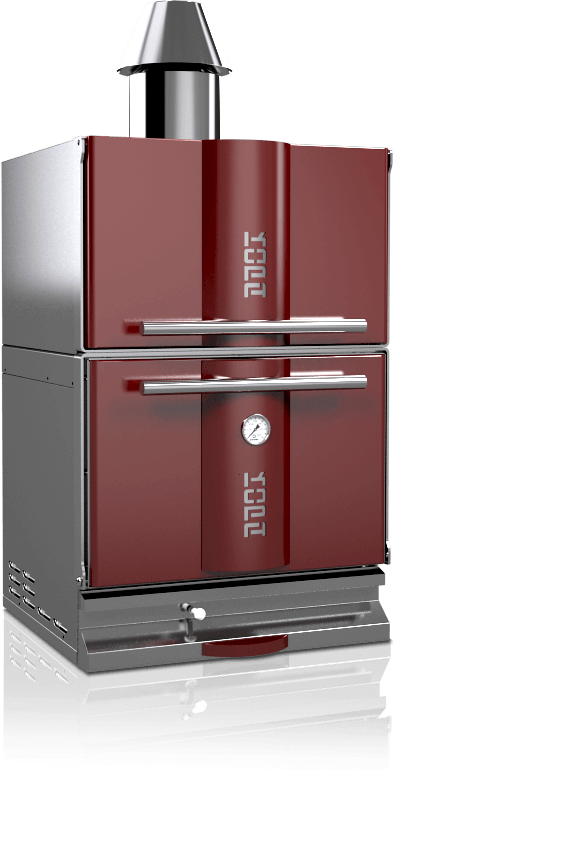 charcoal oven 400c red