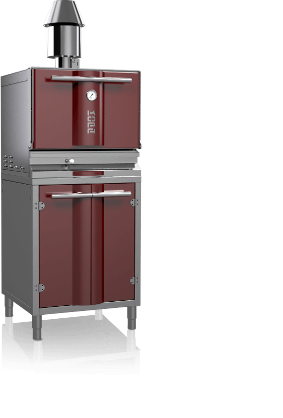 charcoal oven 400s red