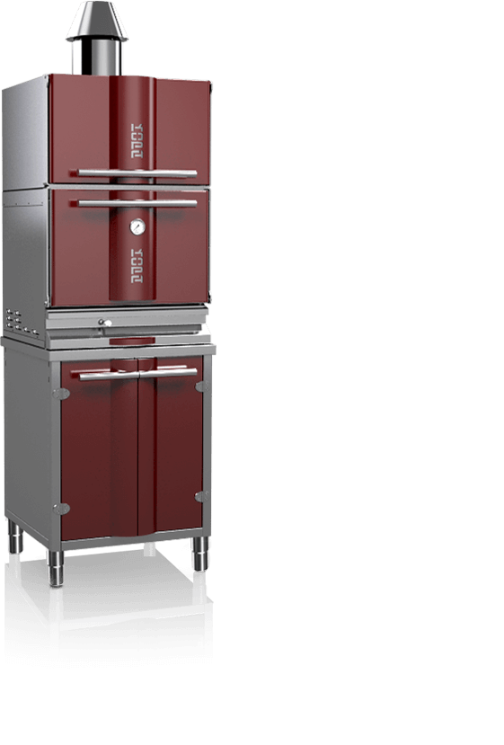 charcoal oven 400sc red