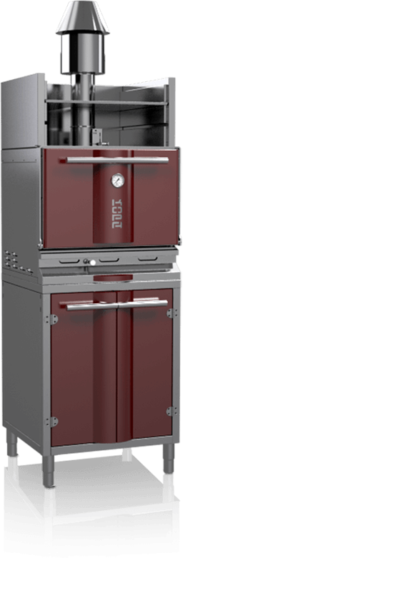 charcoal oven 400soc red