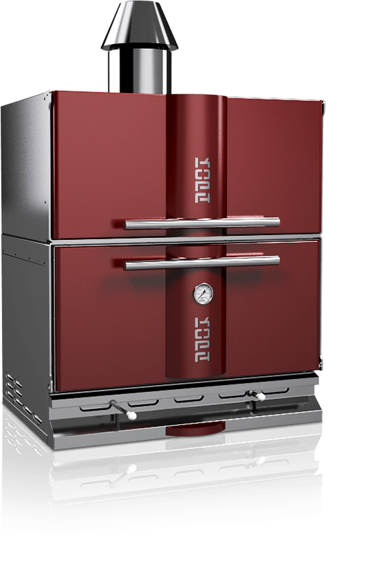 charcoal oven 500c red