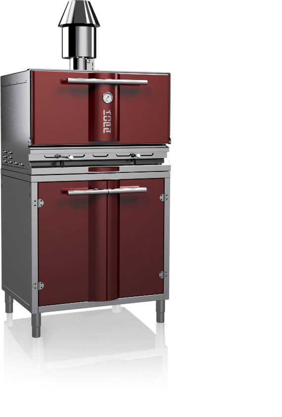 charcoal oven 500s red