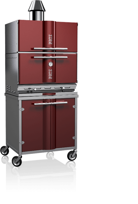 charcoal oven 500sc red