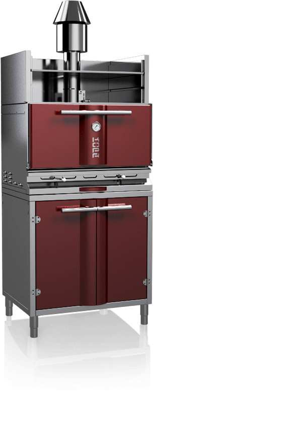 charcoal oven 500soc red